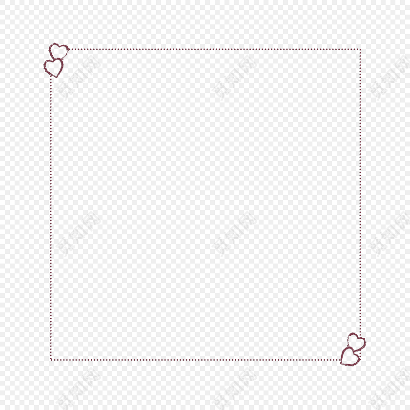虚线边框手绘边框素材