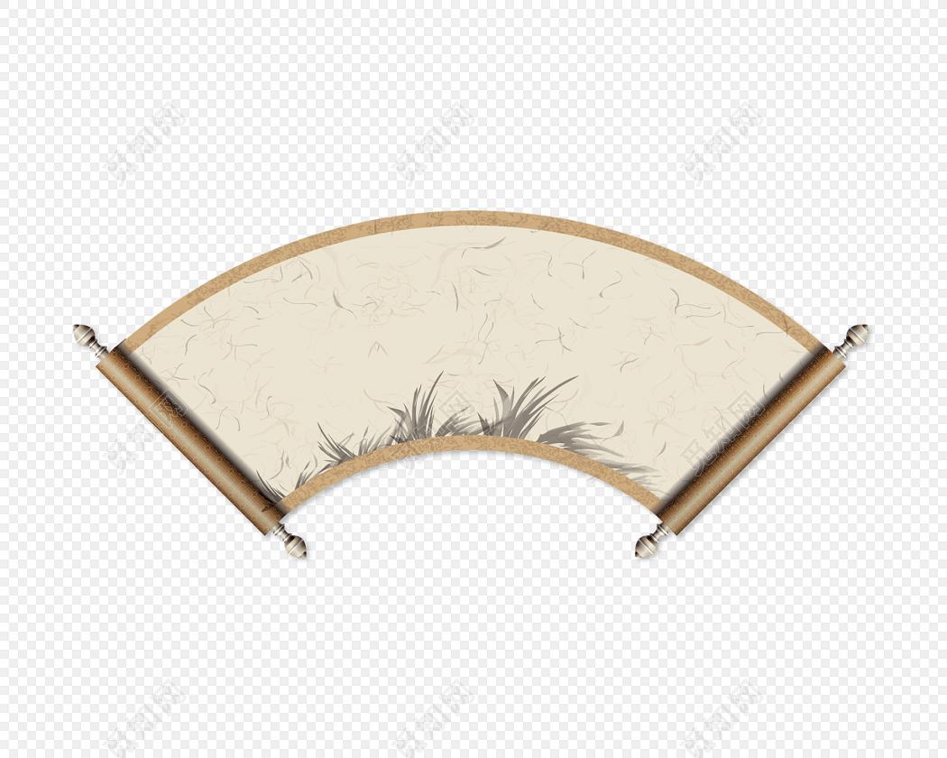 中国风卷轴元素矢量图形