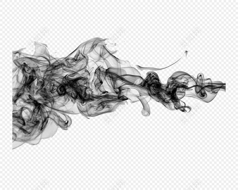 烟雾状渲染墨迹素材