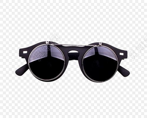 黑色眼镜时尚素材