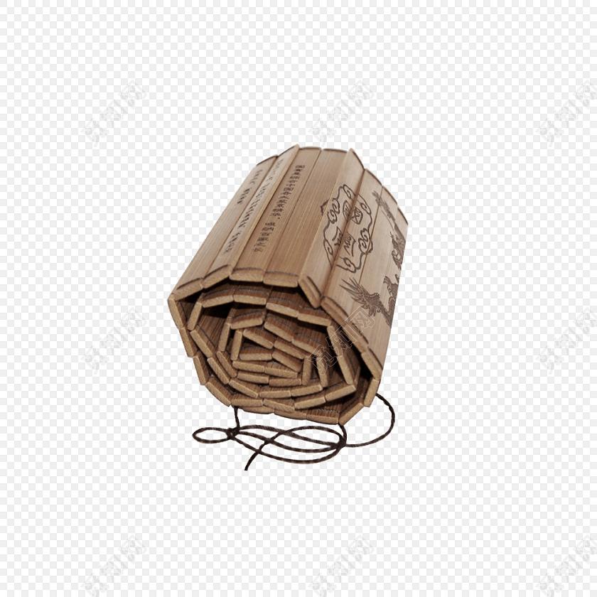 中国风竹简免抠图素材
