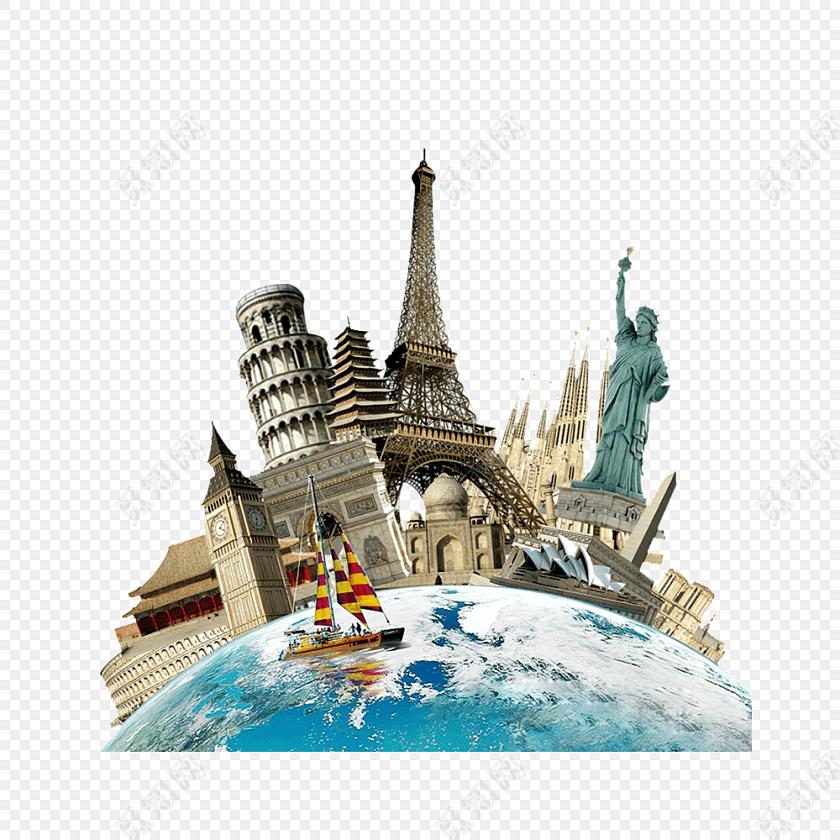 欧洲旅行创意海报设计素材