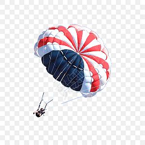 降落伞手绘水彩插画