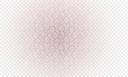 紅色中式祥云花紋底紋素材