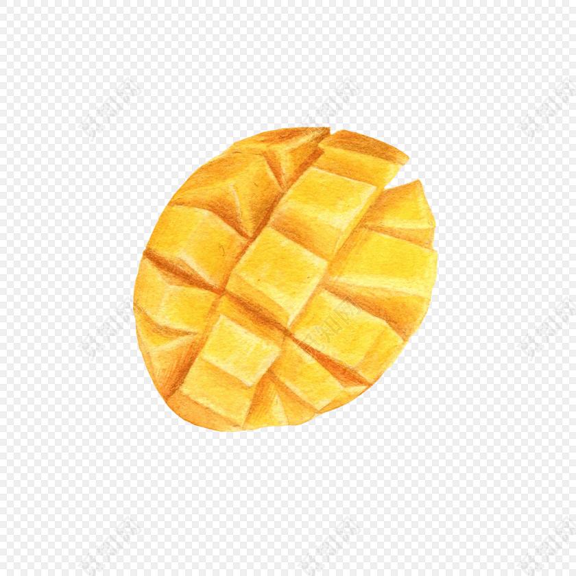 芒果手绘水彩插画