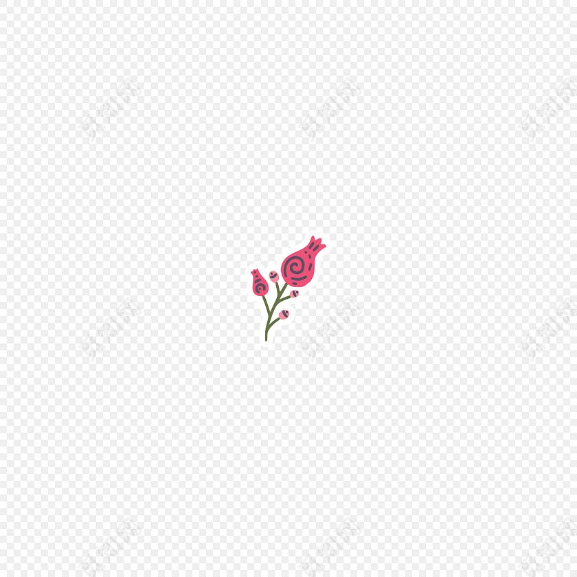 清新彩色手绘小花矢量元素