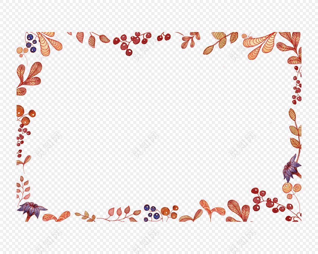 叶子花框树叶边框素材