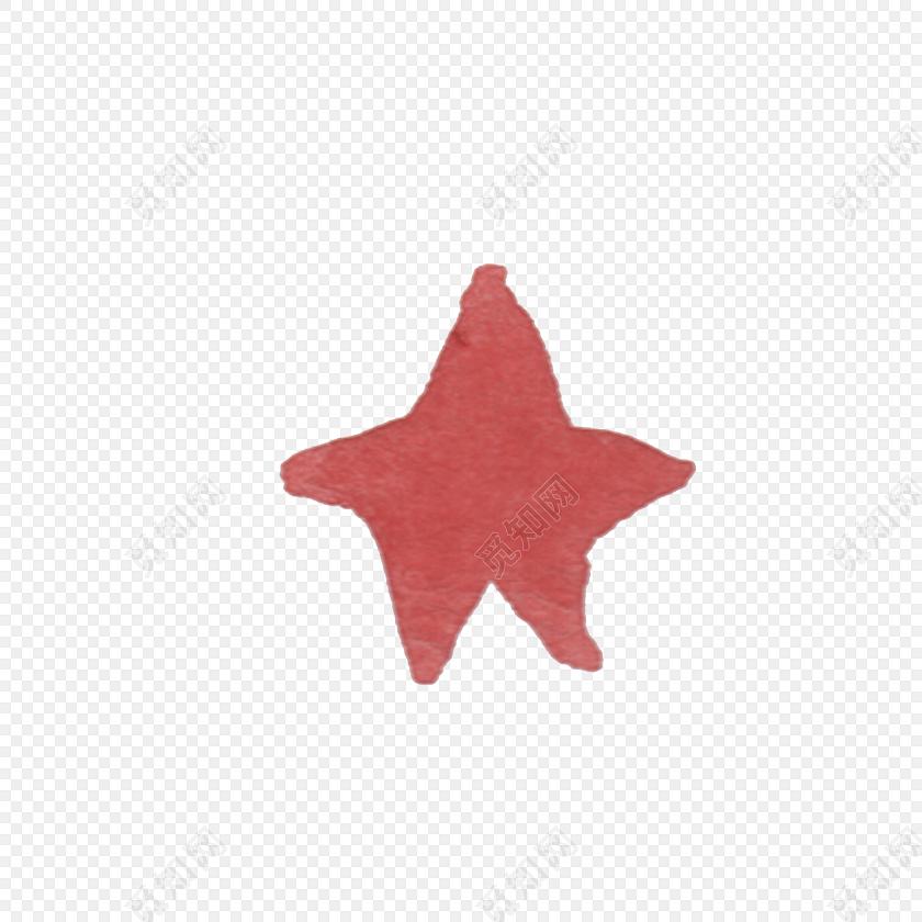 水彩手绘星星设计素材
