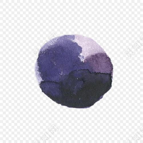 水彩彩绘石头元素素材
