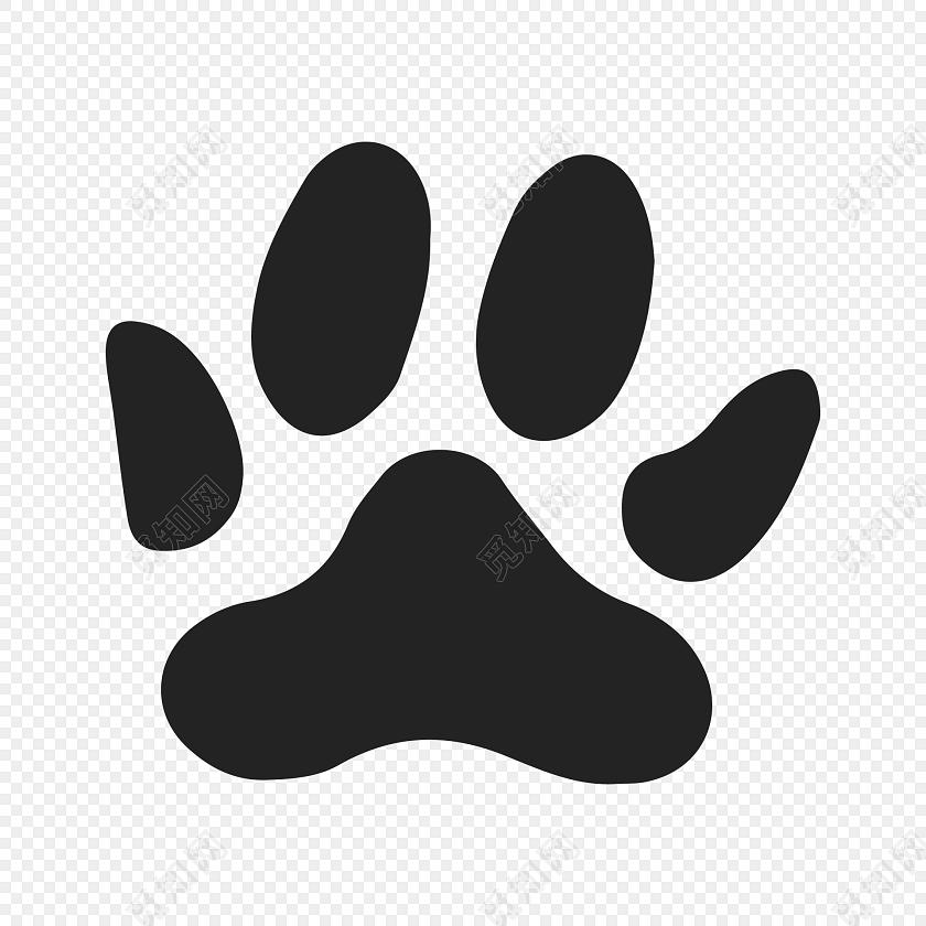 儿童画狗爪印矢量图