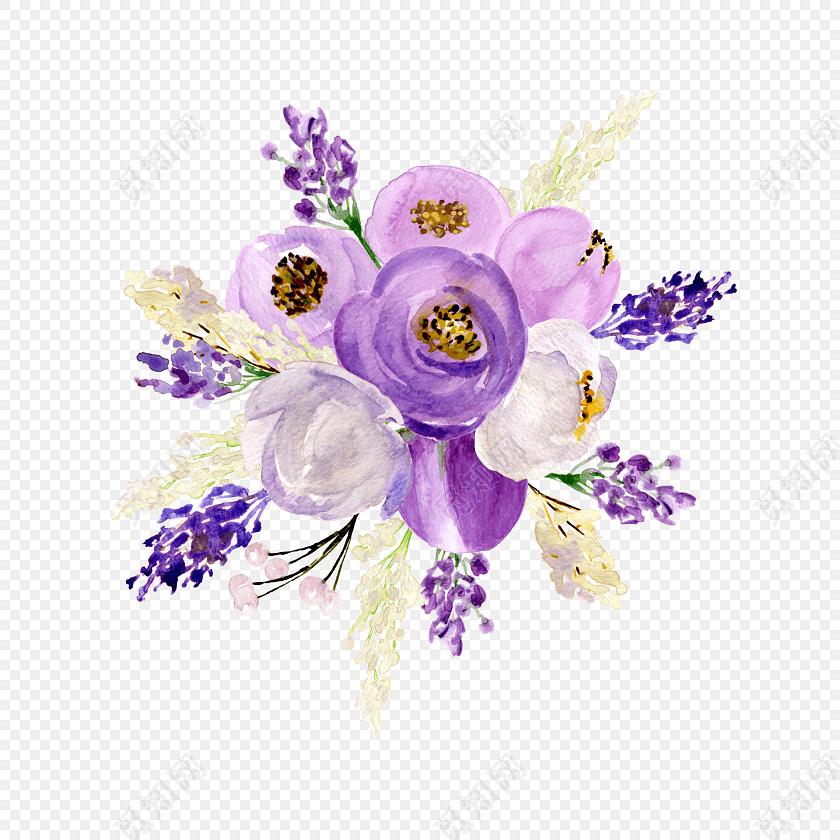 素材花卉花束教师节母亲节素材标签:水彩 免抠素材 卡通 手绘 小清新