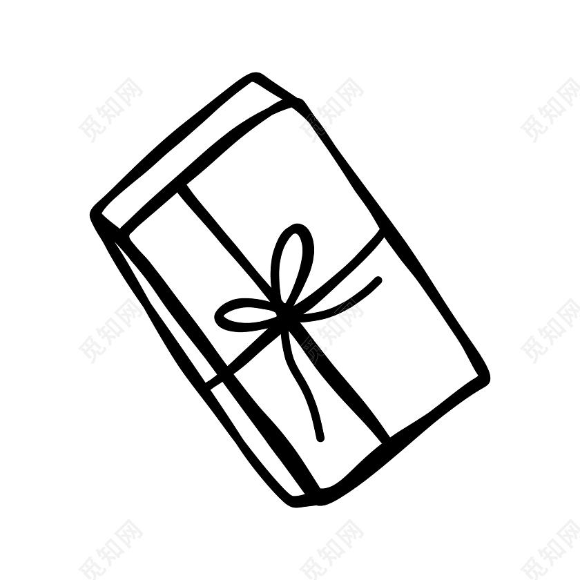 卡通简笔画礼物礼盒素材免费下载 觅知网