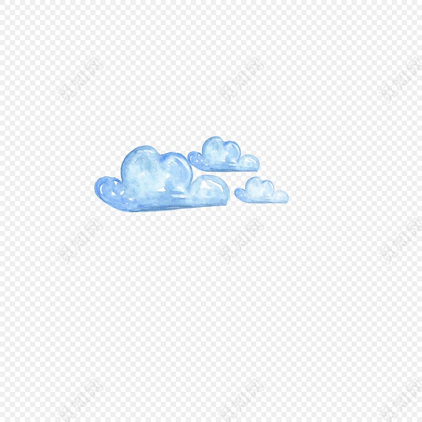白云水彩矢量元素免费下载_png素材_觅知网