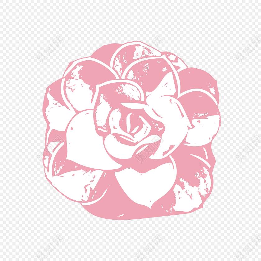 花朵花瓣手绘水彩素材