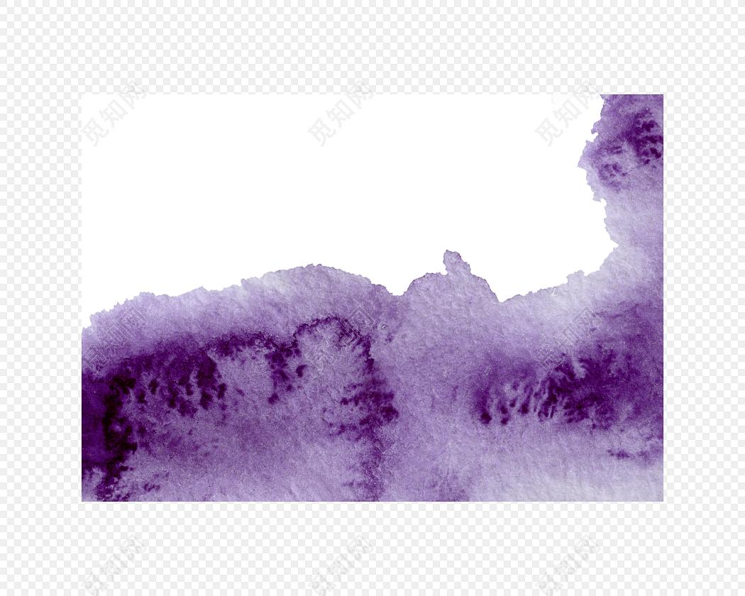 水彩云雾手绘背景