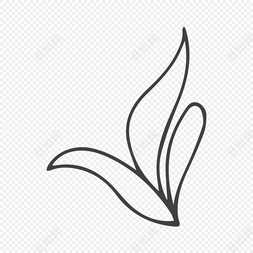 手绘简笔画树叶叶子装饰