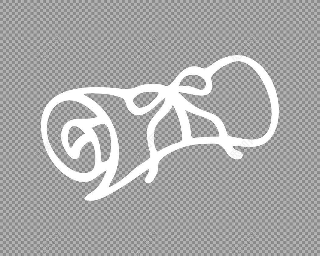 手绘白色简笔画卷轴素材免费下载 觅知网