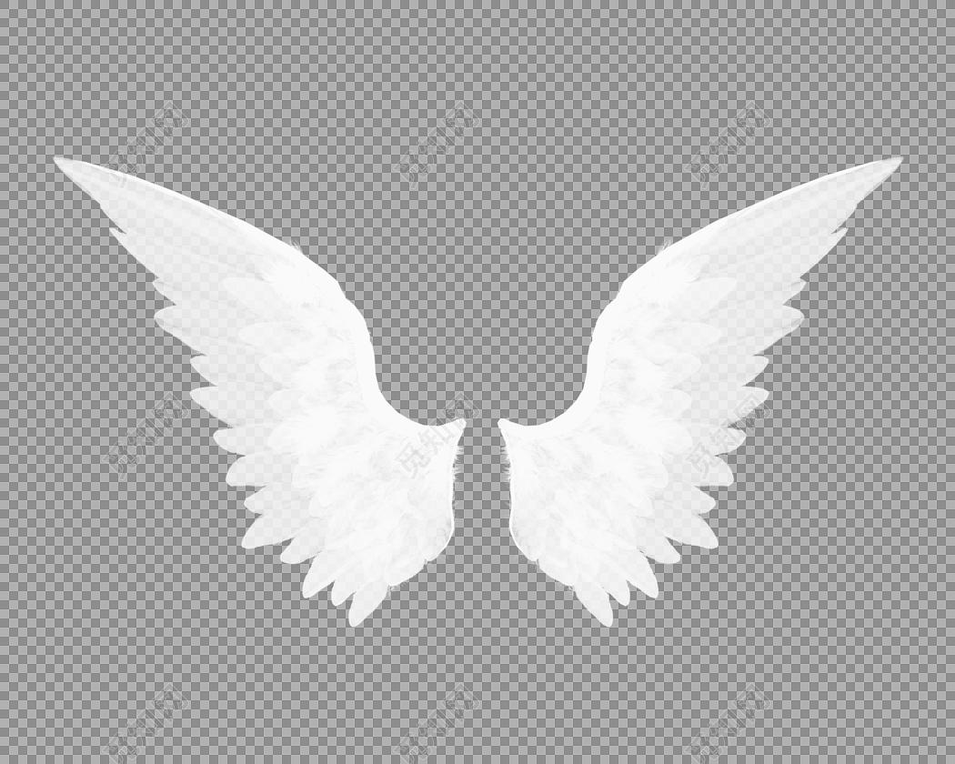 白色羽毛翅膀素材