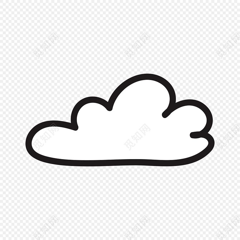 极简云朵图案手绘风矢量元素