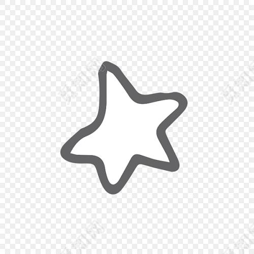 简约黑白手绘星星矢量设计元素
