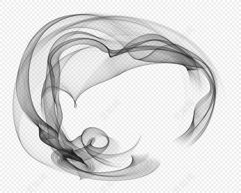 简笔画矢量图_笔刷圆形飘逸烟雾图片素材免费下载_觅知网
