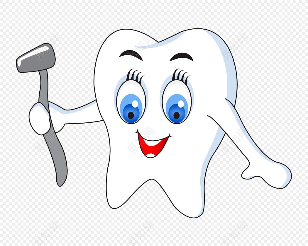 卡通牙齿医疗器具矢量图素材