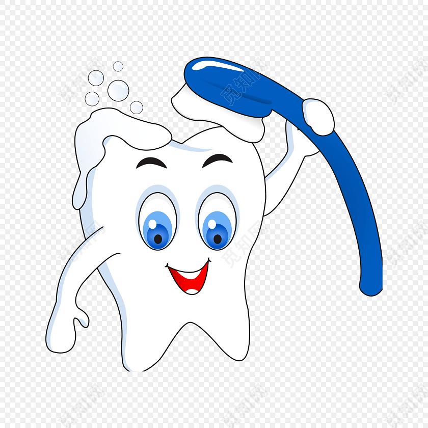 牙膏牙刷牙齿医疗矢量图素材