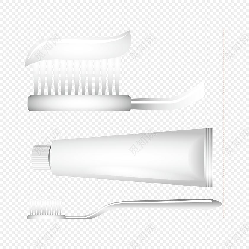 牙膏牙刷医疗矢量图素材