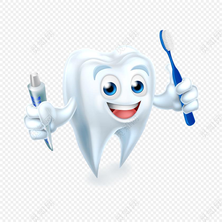 牙膏牙刷白色牙齿口腔矢量图素材