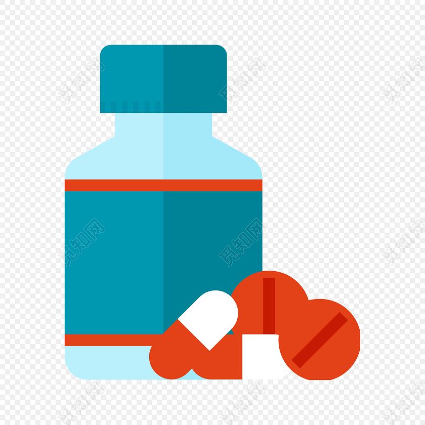 药瓶药丸胶囊矢量图素材