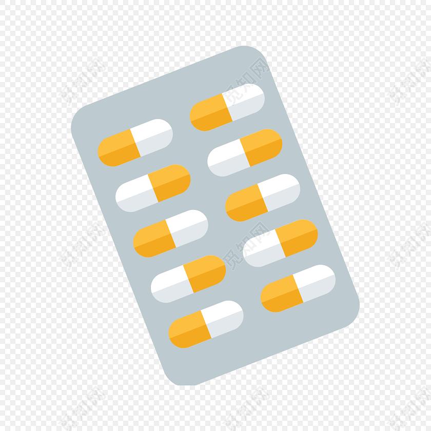 手绘卡通药丸药品素材免费下载_png素材_觅知网