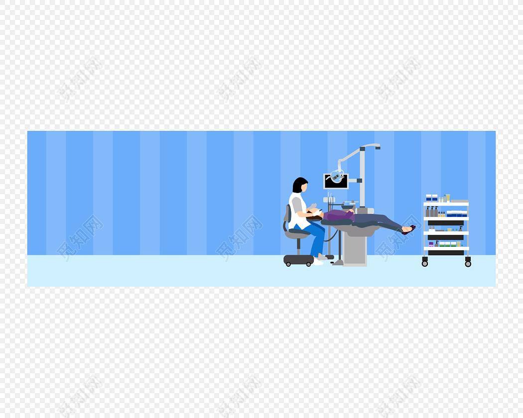 卡通医院场景素材