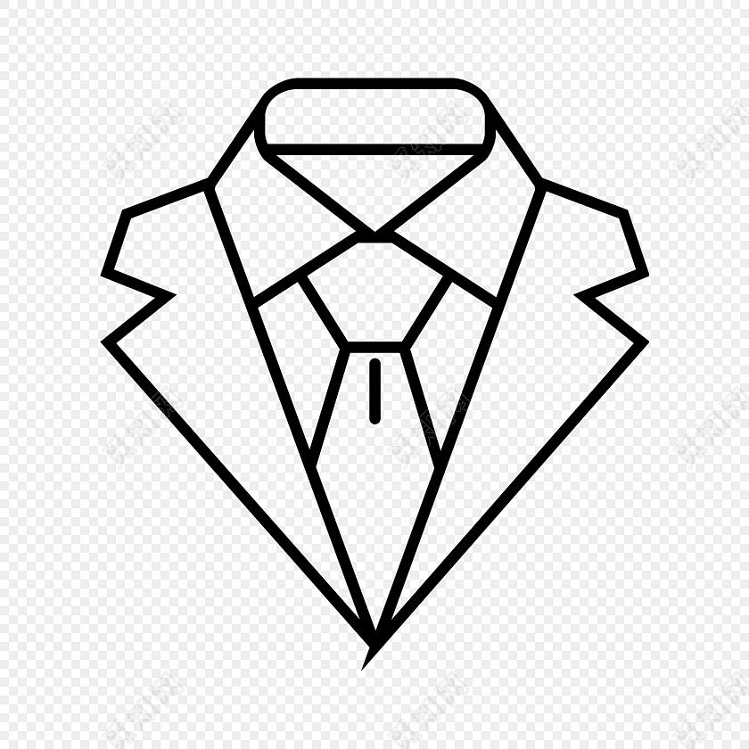简笔画衣领图标素材