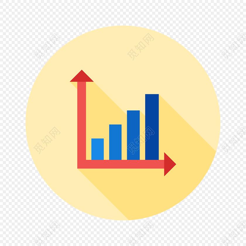 简约卡通统计图图标素材