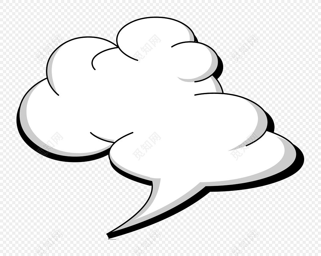 卡通手绘对话框素材