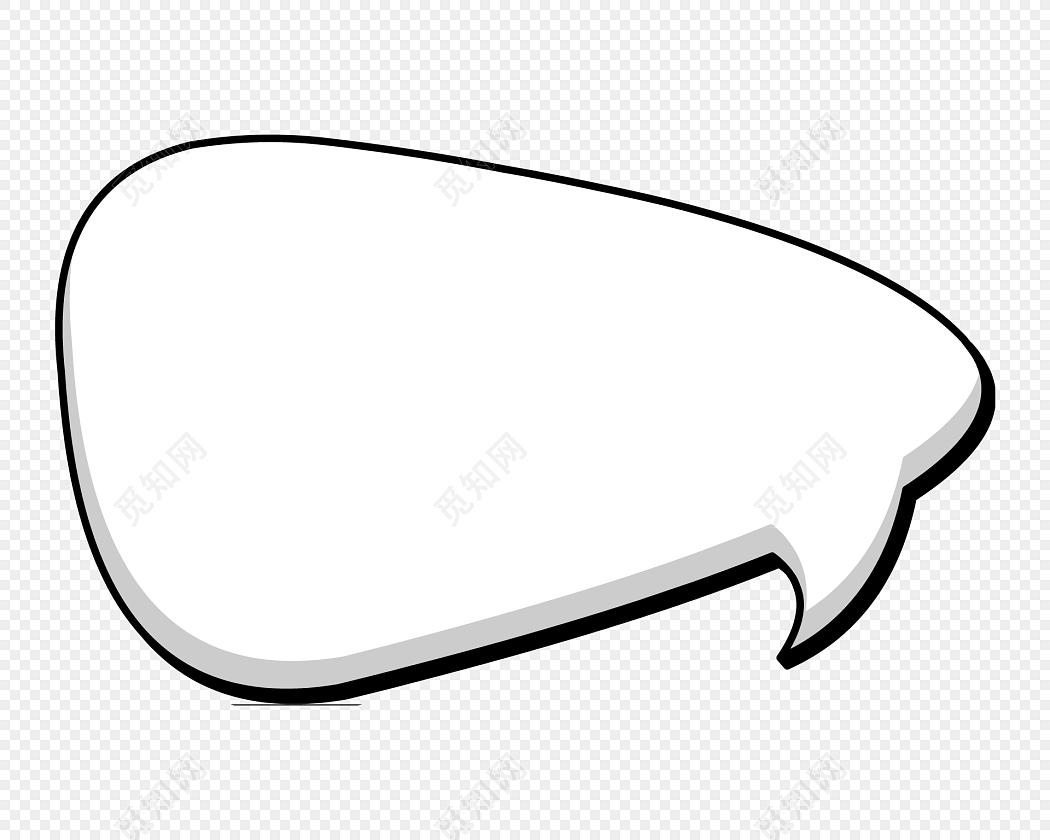 卡通手绘对话框边框素材