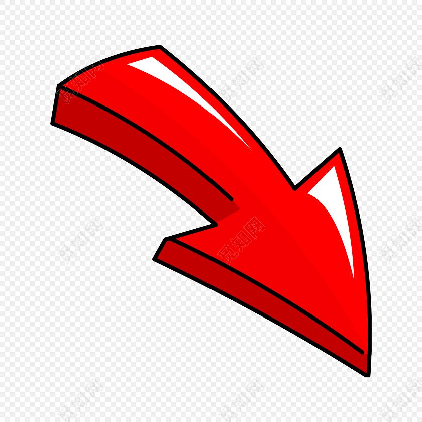 红色箭头手绘素材
