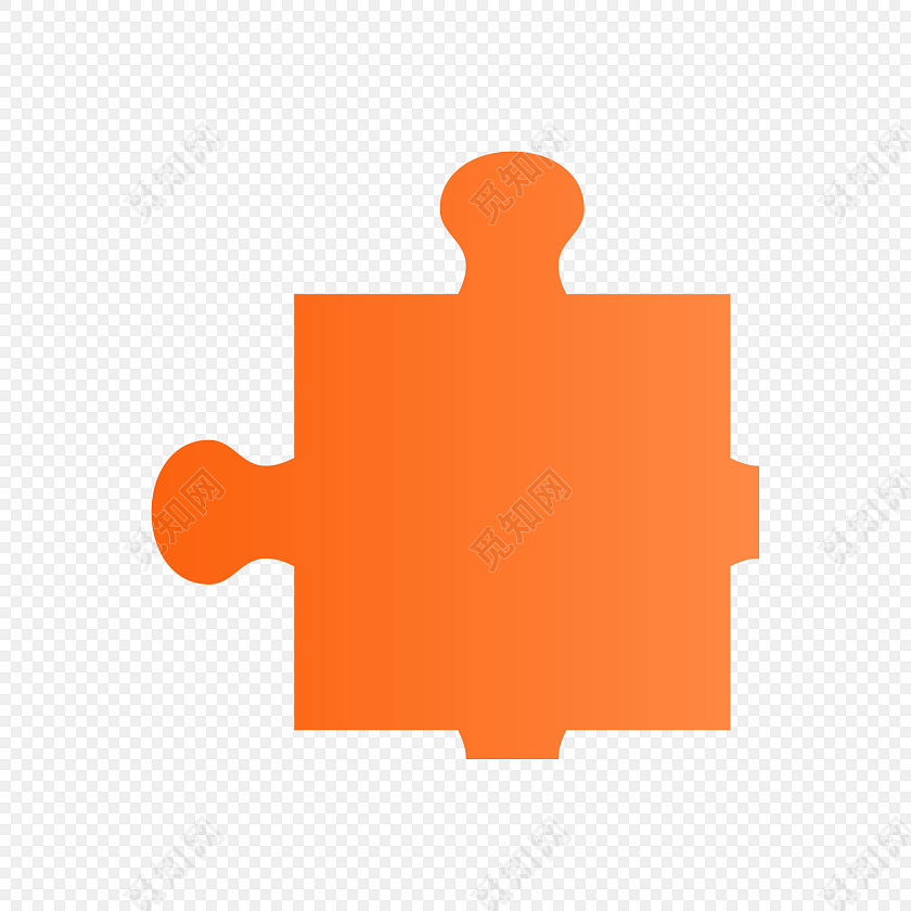 手绘拼图玩具矢量素材