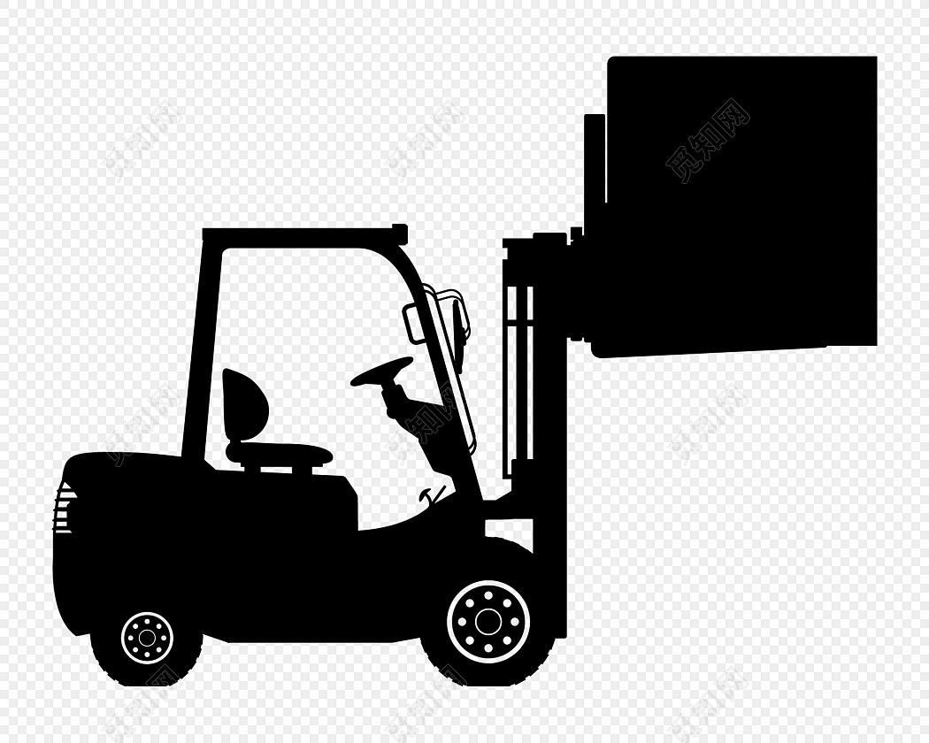 黑色叉车矢量图