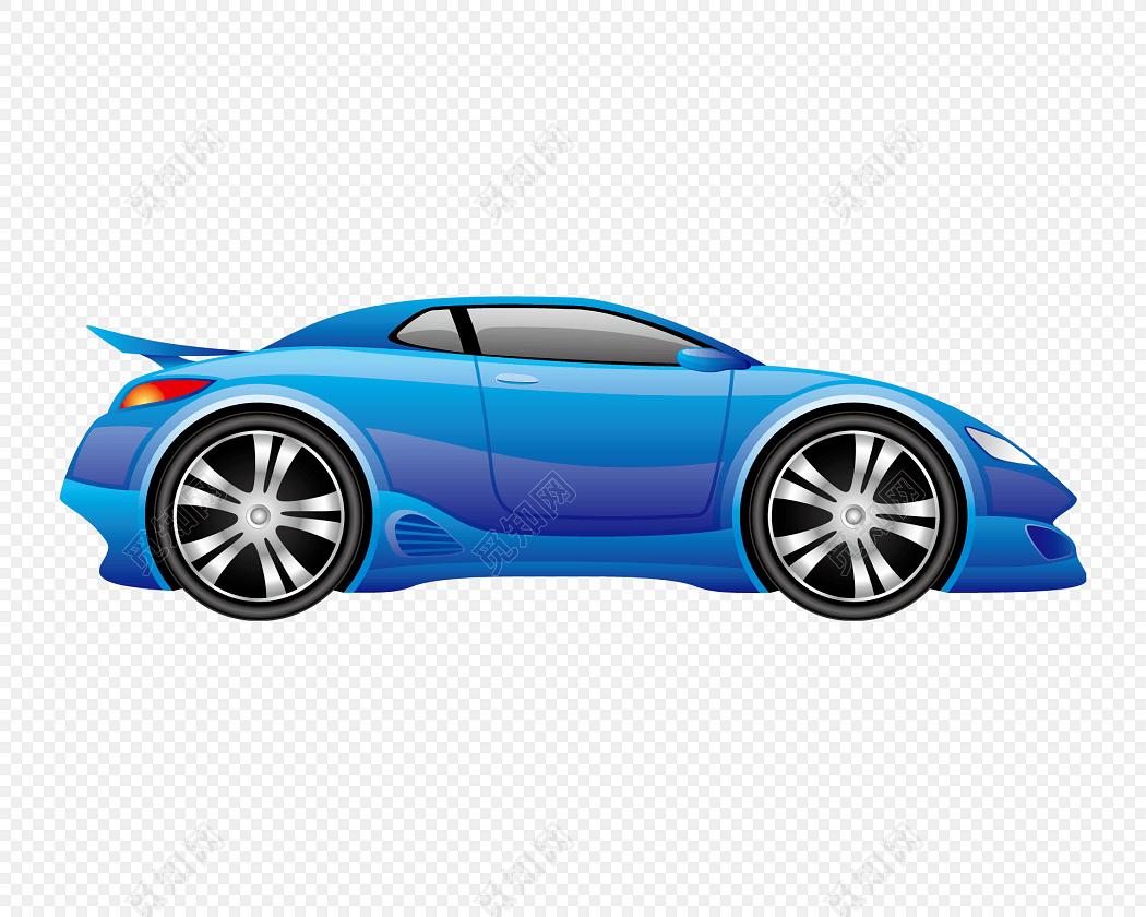 家用蓝色跑车素材