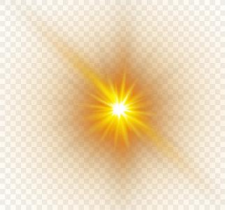 精美金色炫光光效光暈元素矢量素材