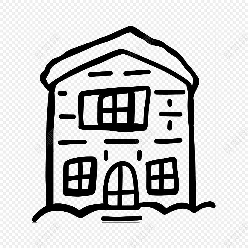 儿童手绘房屋