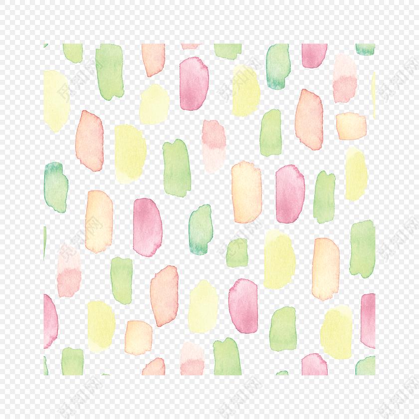 彩色卡通水彩笔刷素材