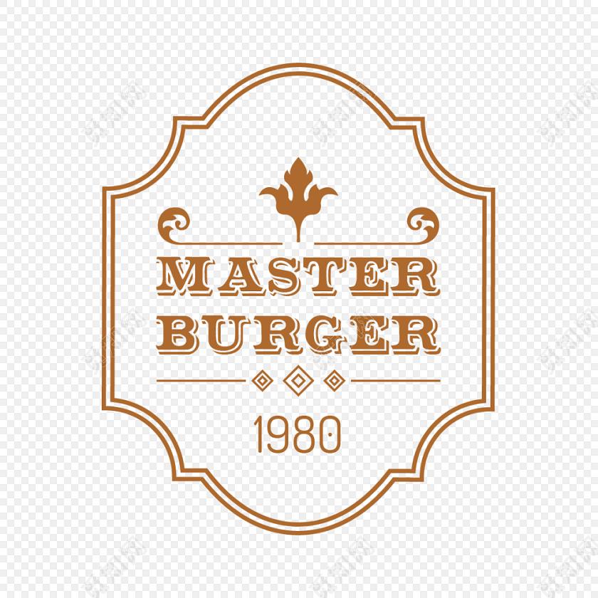 卡通漢堡包美食字母字體設計