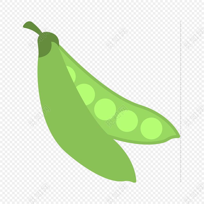 彩色卡通厨房蔬菜豆荚图标