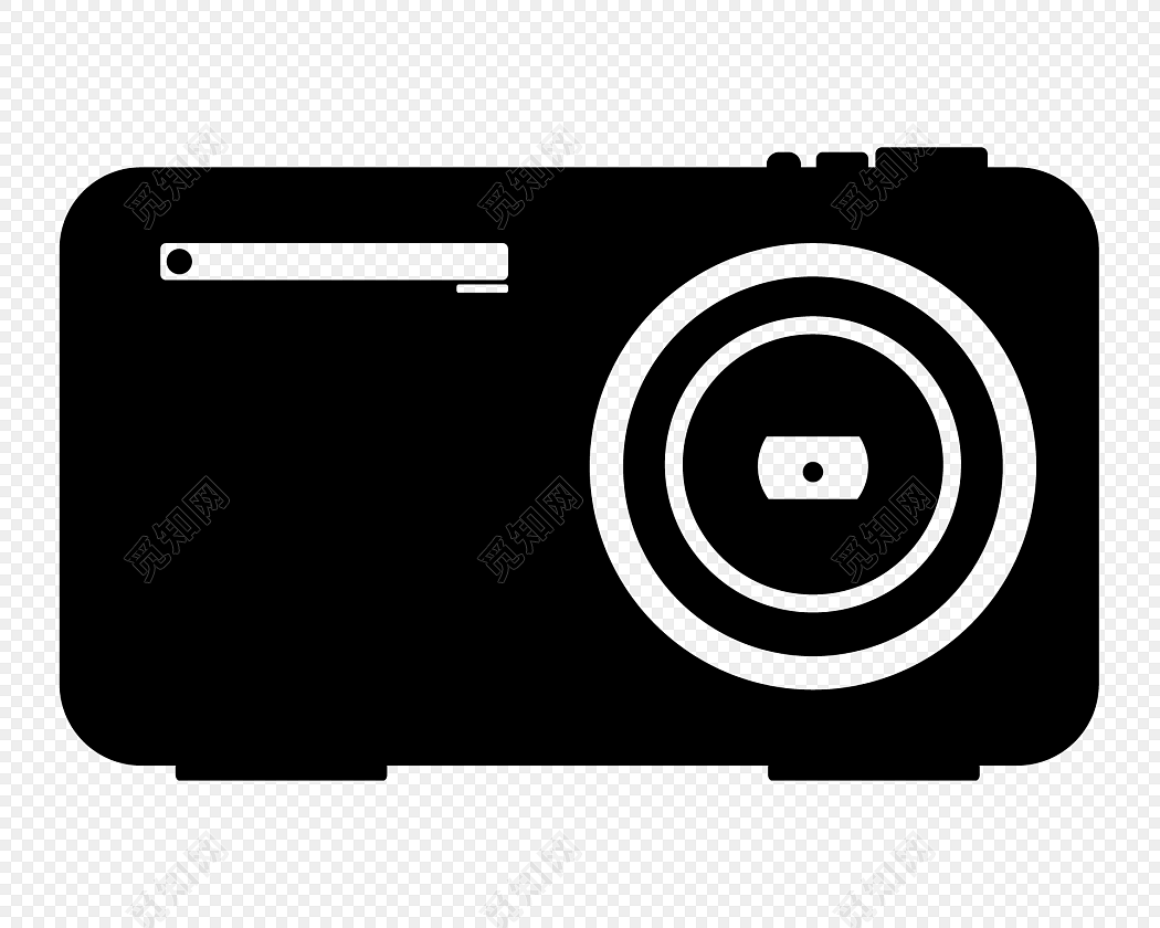 黑白简约商务相机图标免费下载_png素材_觅知网