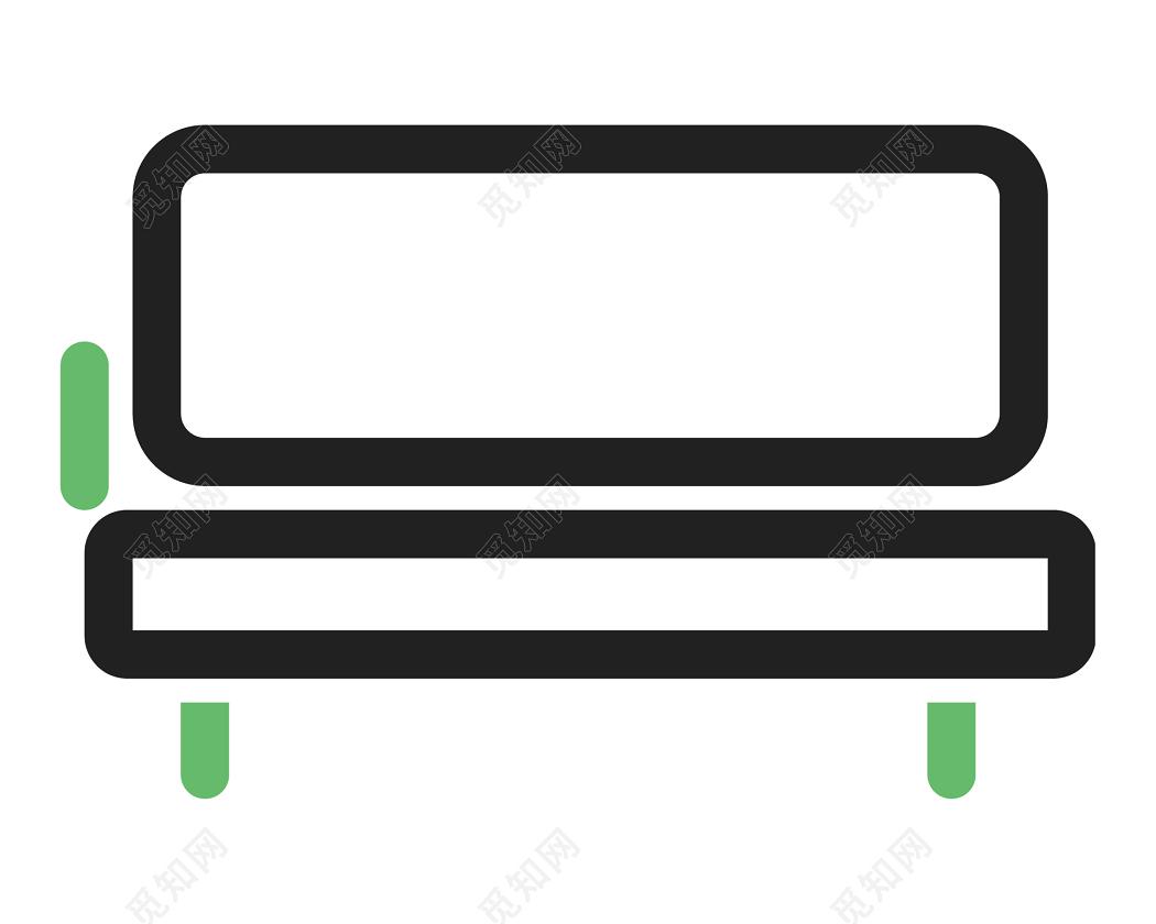 简约简笔画长椅图标素材免费下载 觅知网