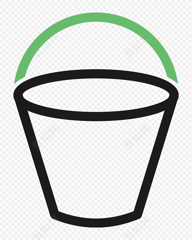 简约简笔画水桶图标素材