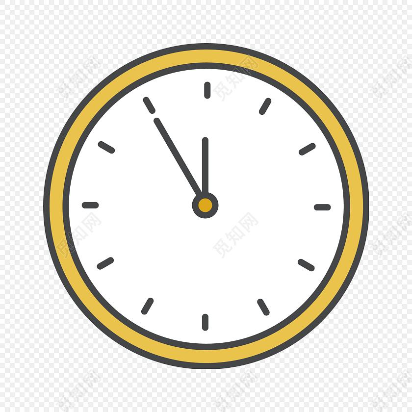 钟表手绘时间图标时钟图标素材