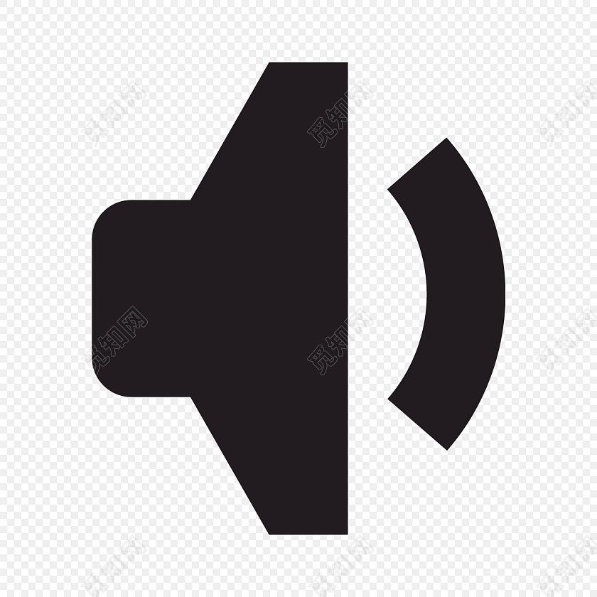 黑色扁平音量小图标免费下载_png素材_觅知网